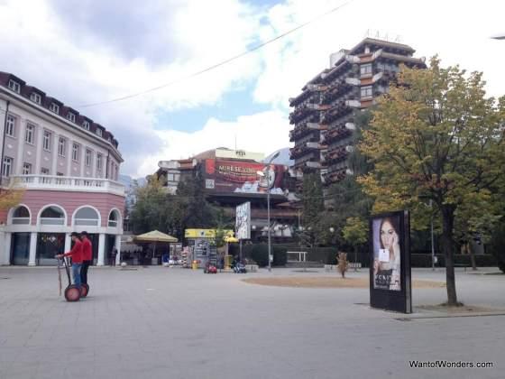 Peja's central square