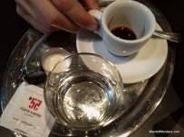 Kleiner brauner at Cafe Ansari