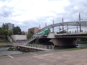 "The infamous ""Peace Bridge"" connecting north and south Mitrovica"