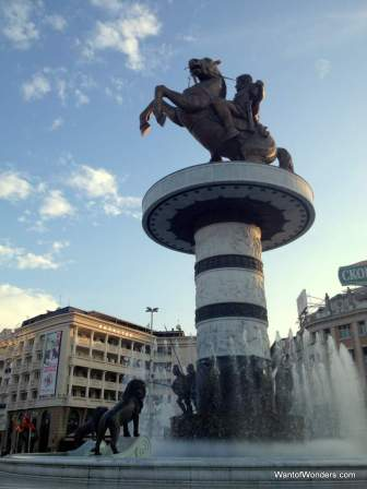 The infamous Alexander in Macedonia Square