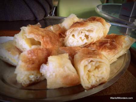 Byrek, traditional cheese pie