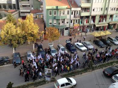AKR Parade through Mitrovica