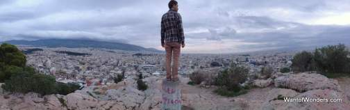 On top of Filopappou Hill