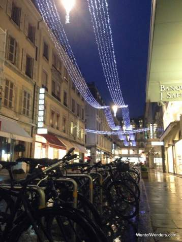 Bicycles, a rare sight in Geneva