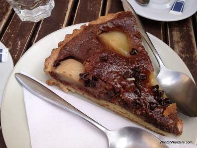 """Lunch"", chocolate-pear torte"