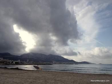 Plage du Prado, first step on the beach