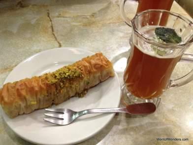 Tunisian sweets and mint tea