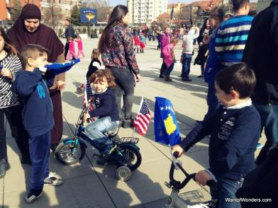 The Young Europeans celebrating in Pristina
