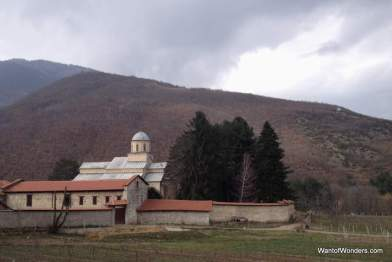 The monastery and its vineyard