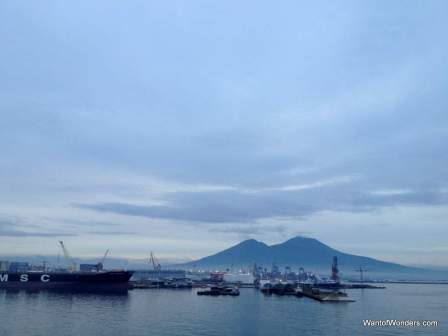 Mt. Vesuvius from Naples harbor at dawn