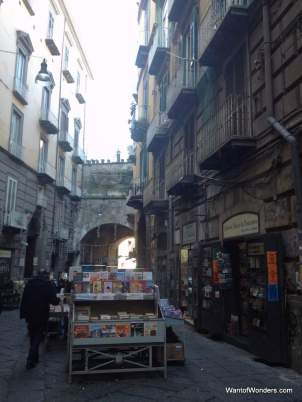 A whole street in Naples just for booksellers!