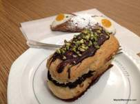 Chocolate eclair + Cannoli