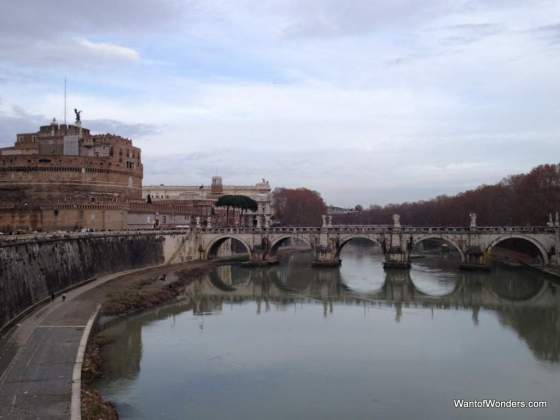 The Tiber River, reminded me so much of crossing the Seine