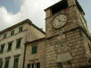 Clock tower in Old Kotor
