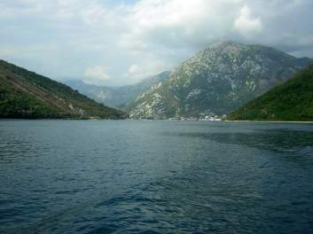 Crossing Kotor Bay by ferry