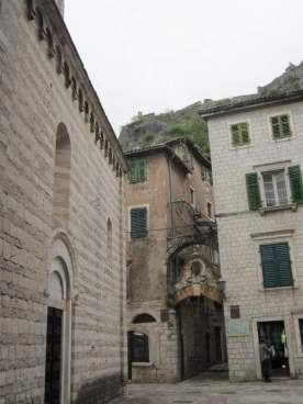Church wall in Old Kotor
