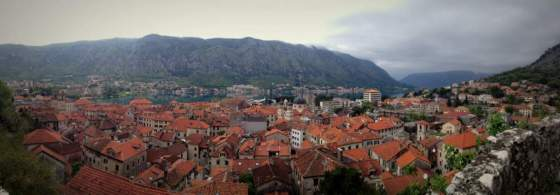 Looking out over Kotor