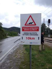 Watch out for otters on your way to Virpazar!