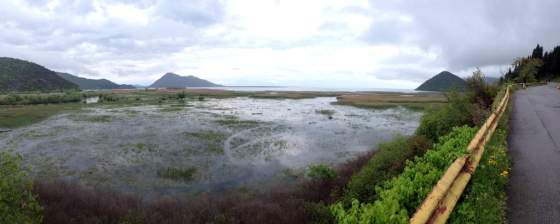 View of Skadar Lake from the edge of Virpazar