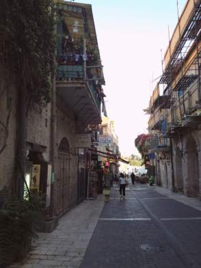 The streets of West Jerusalem's city center